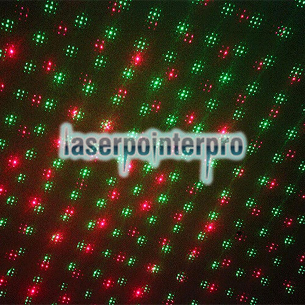 50mw 532nm Luz de haz rojo y verde Luz de cielo estrellado Estilo Lápiz puntero láser Conjunto Negro