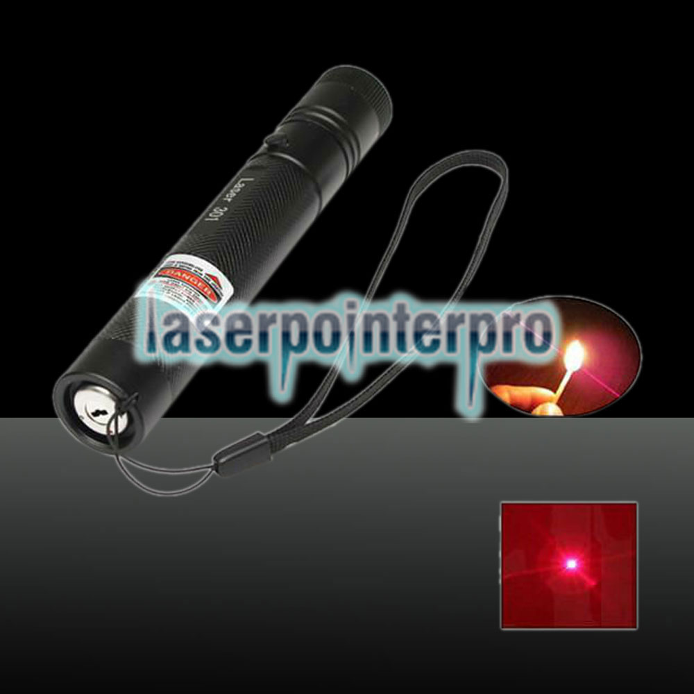 Pointeur laser à point unique Laser 301 1000mW 650nm Red Beam Light, noir