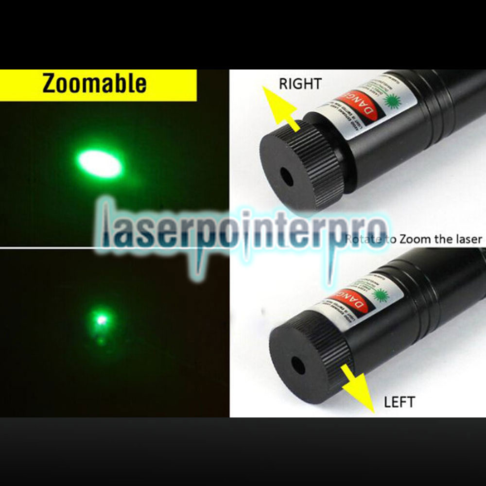 Laser 301 500MW Green Light High Power Laser Pointer Kit Black