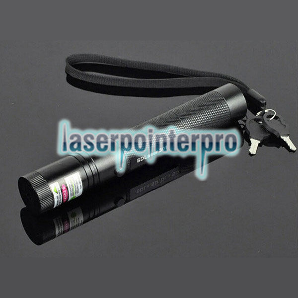 Laser 301 1mW 532nm Green Beam Light Punto único Laser Pointer Pen Negro