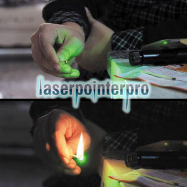 Laser 301 5mW 532nm Professional Green Light Set de stylo pointeur noir