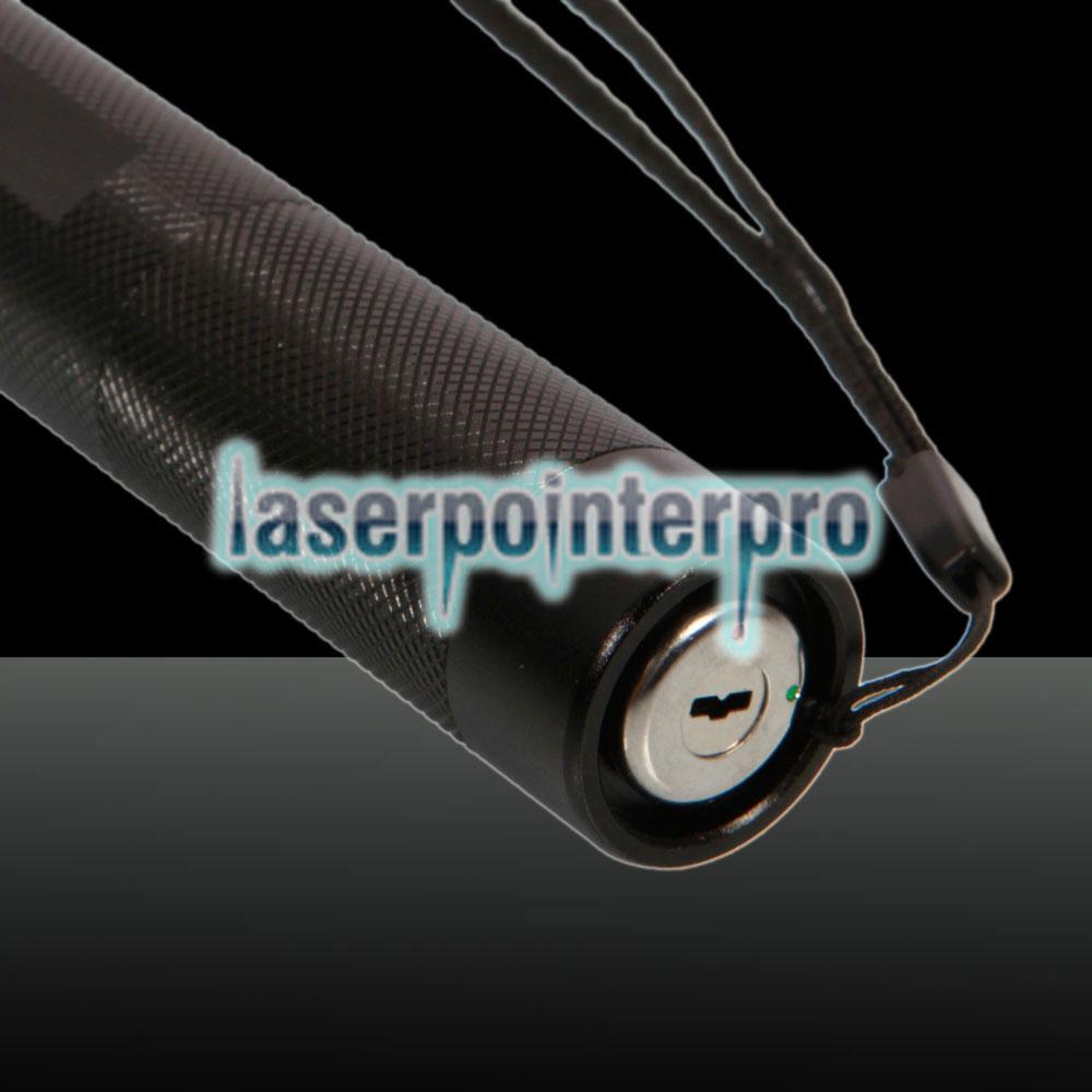 5000mW 450nm Kit penna puntatore laser a punto singolo a raggio blu con batterie e caricabatterie e chiavi Nero