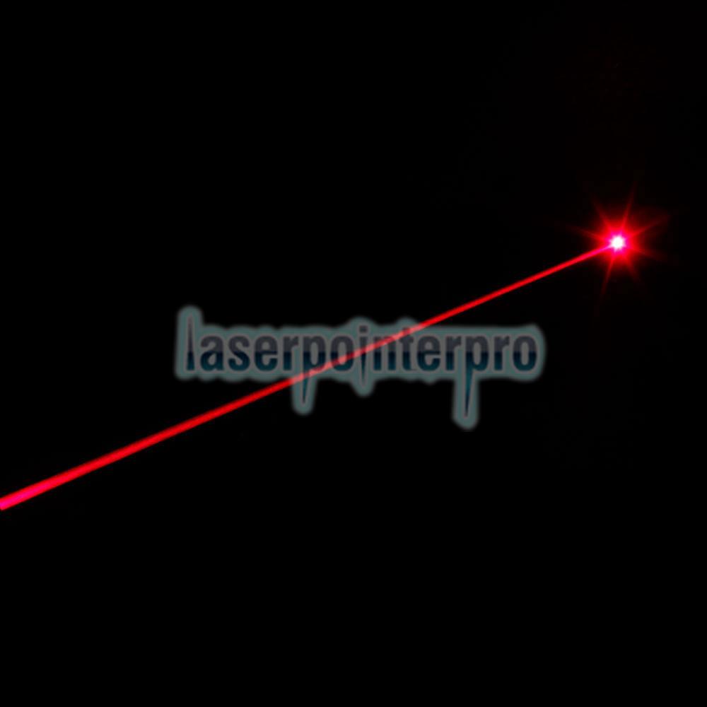 Laser 302 200mW 650nm Lápiz puntero láser rojo medio abierto Negro