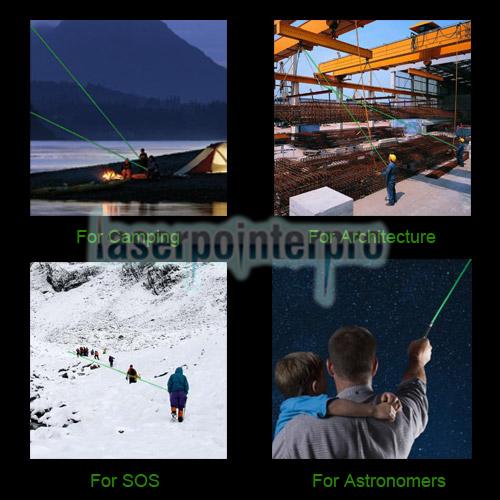 Laser 302 200mW 650nm Mitteloffener roter Laserzeiger Schwarz