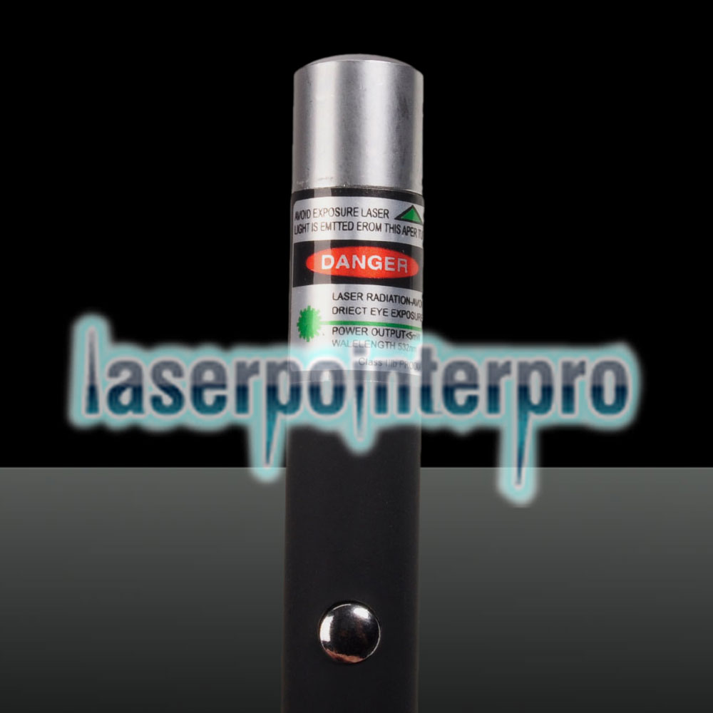 5mW 532nm Mid-open Green Laser Pointer (No Packaging) Black