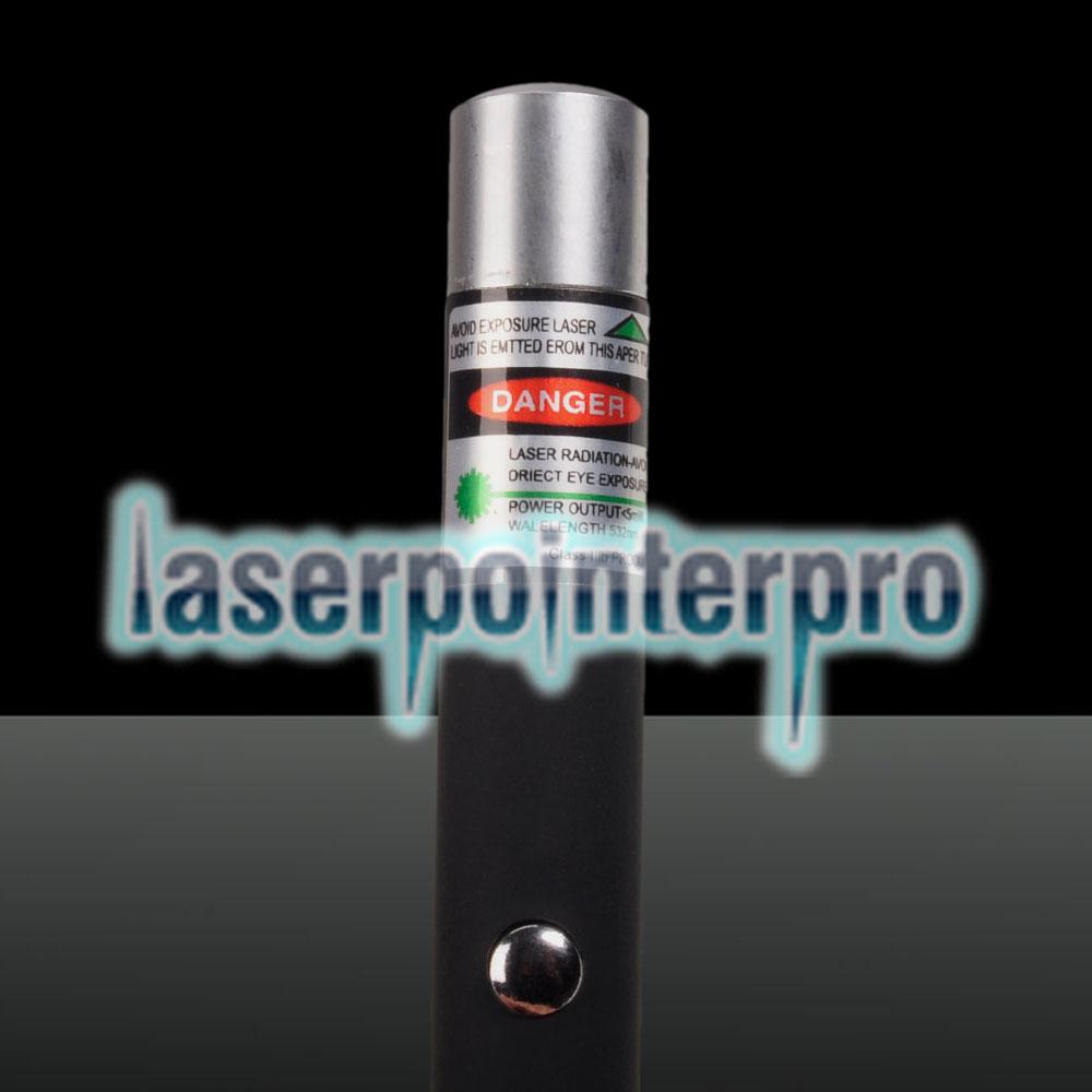 Pointeur laser vert 5mW 532nm mi-ouvert (sans emballage) noir