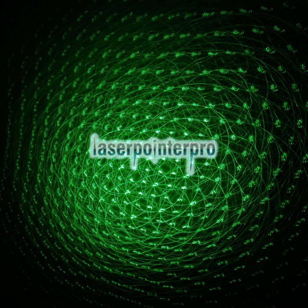 RL851 150mW 532nm Kaleidoskopischer grüner Laserpointer mit Schwanz-Knopf Schwarz