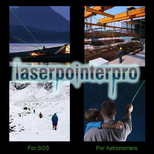 RL853 100mW 532nm Kaleidoskopischer grüner Laserpointer mit Schwanz-Knopf Silbergrau