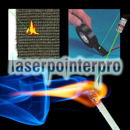 5000mW 532nm Green Laser Pointer Pen Silver Gray
