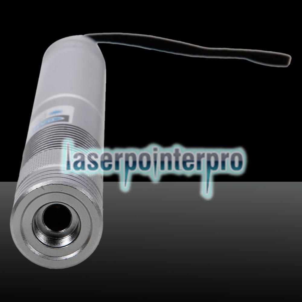 2000mw círculo tipo reto de alta potência azul luz ponteiro laser terno prata