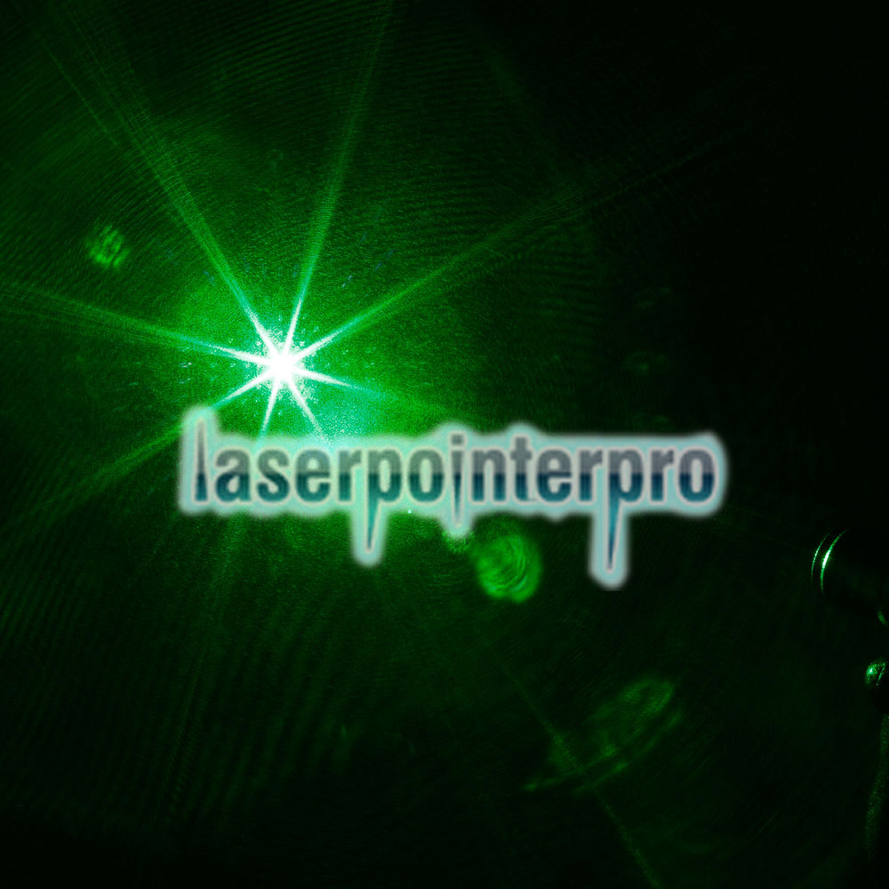 300mW Grid Pattern Professional Green Light Laser Pointer Suit with Battery & Charger Black