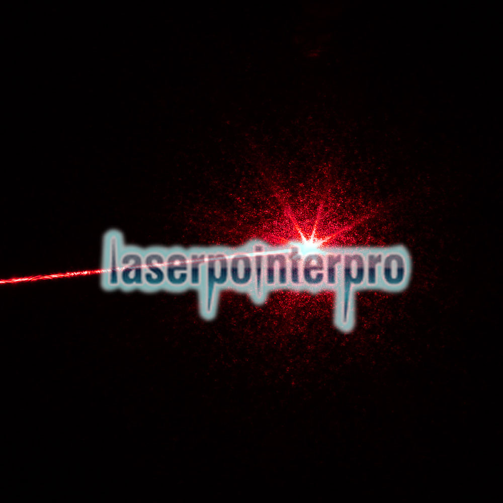 300mW Middle Open Sternenmuster Rotes Licht Naked Laserpointer Silber