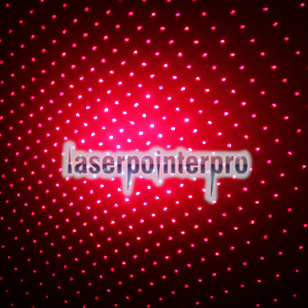 300mW Dot Pattern / Starry Pattern / Multi-Patterns Focus Penna puntatore laser a luce rossa Silver