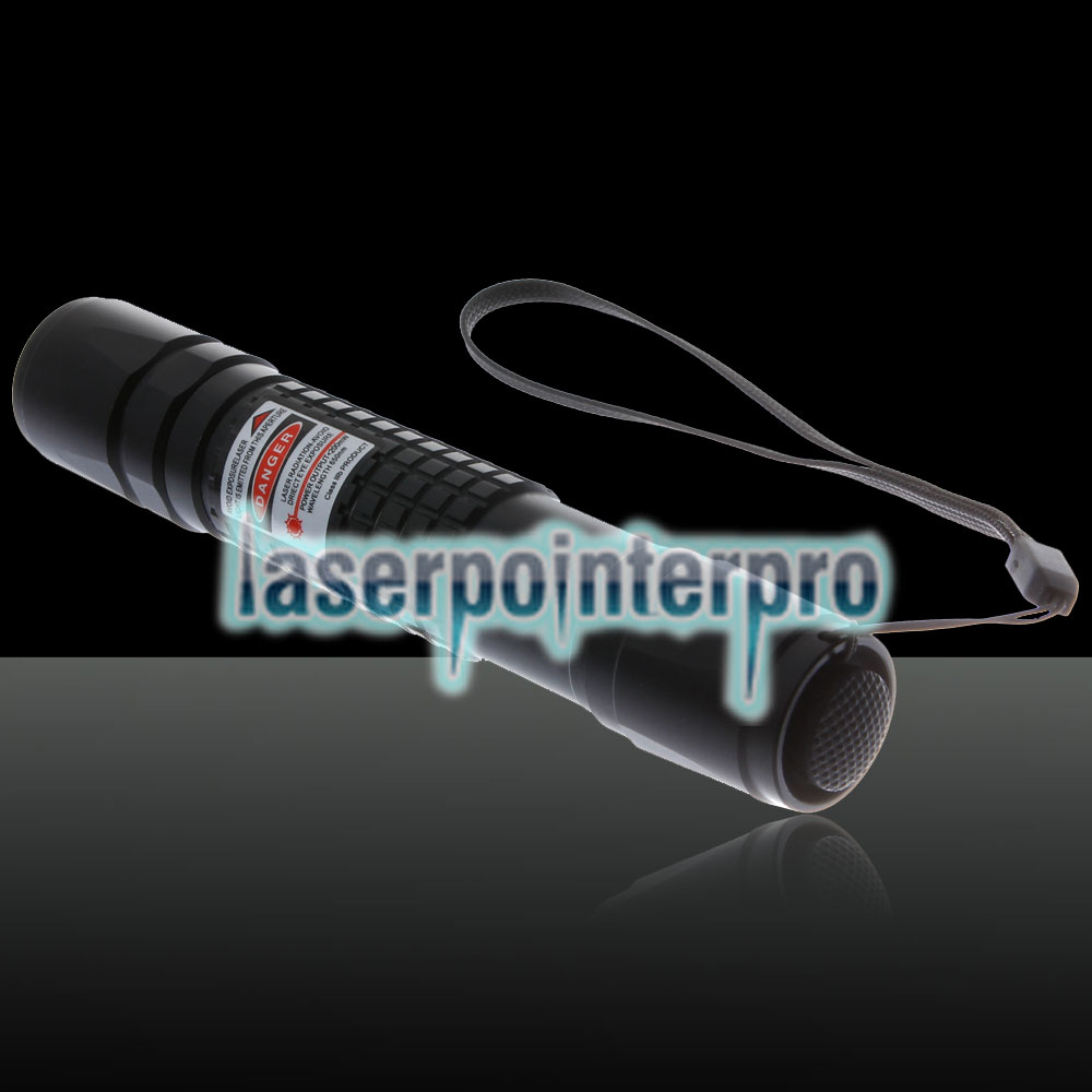 Stylo pointeur laser Focus de type extension Focus de 200 mW avec batterie rechargeable 18650, argent