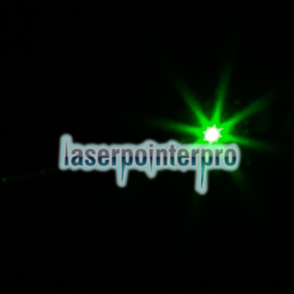 Stylo pointeur laser Facula à point d'extension de 100 mW avec motif de point vert et batterie rechargeable 18650, argent