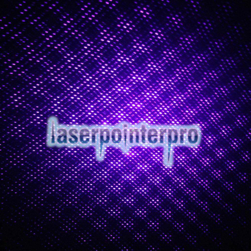 50mW Médio Aberto Padrão Estrelado Roxo Luz Nu Laser Pointer Pen Azul
