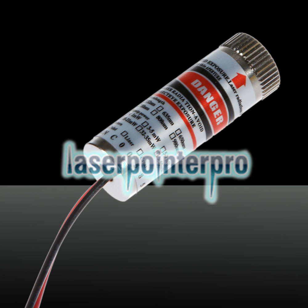 5MW Red Laser Pointer Lined-style Laser Module Silver