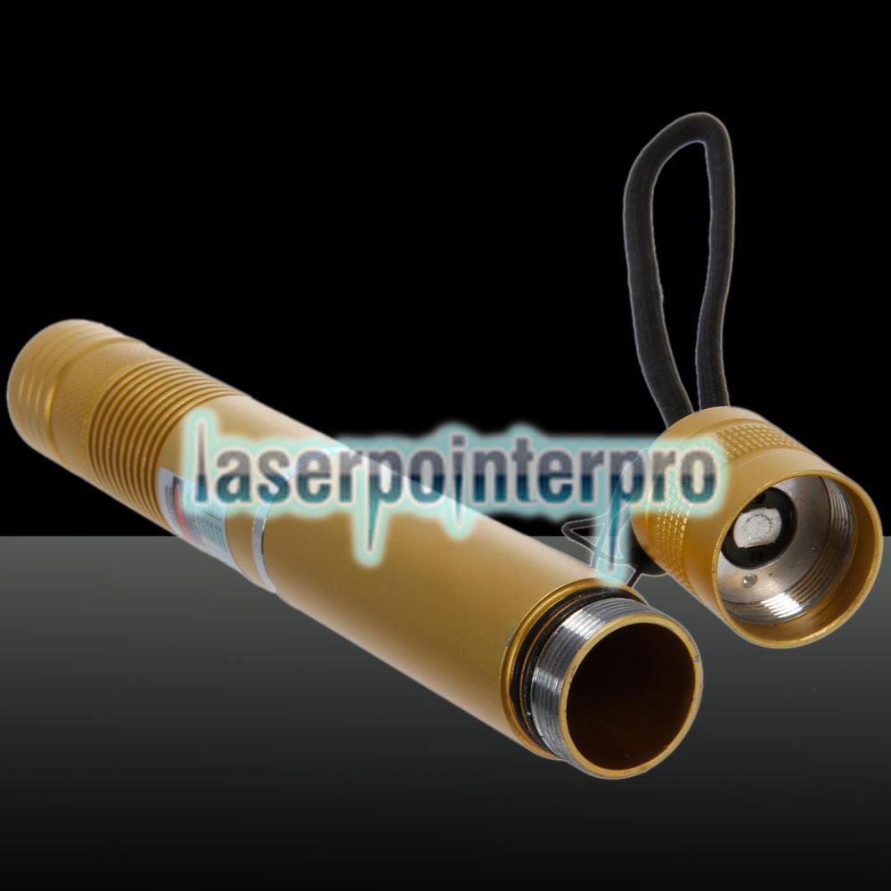 200mW 532nm fokus grün strahllicht laserpointer mit 18650 akku gelb
