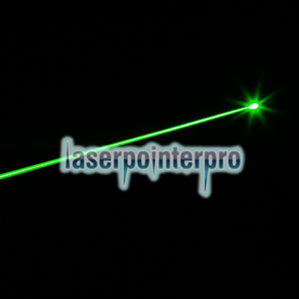 300mW 620 Click Style Open-back Green Laser Pointer with Clip / Battery Black