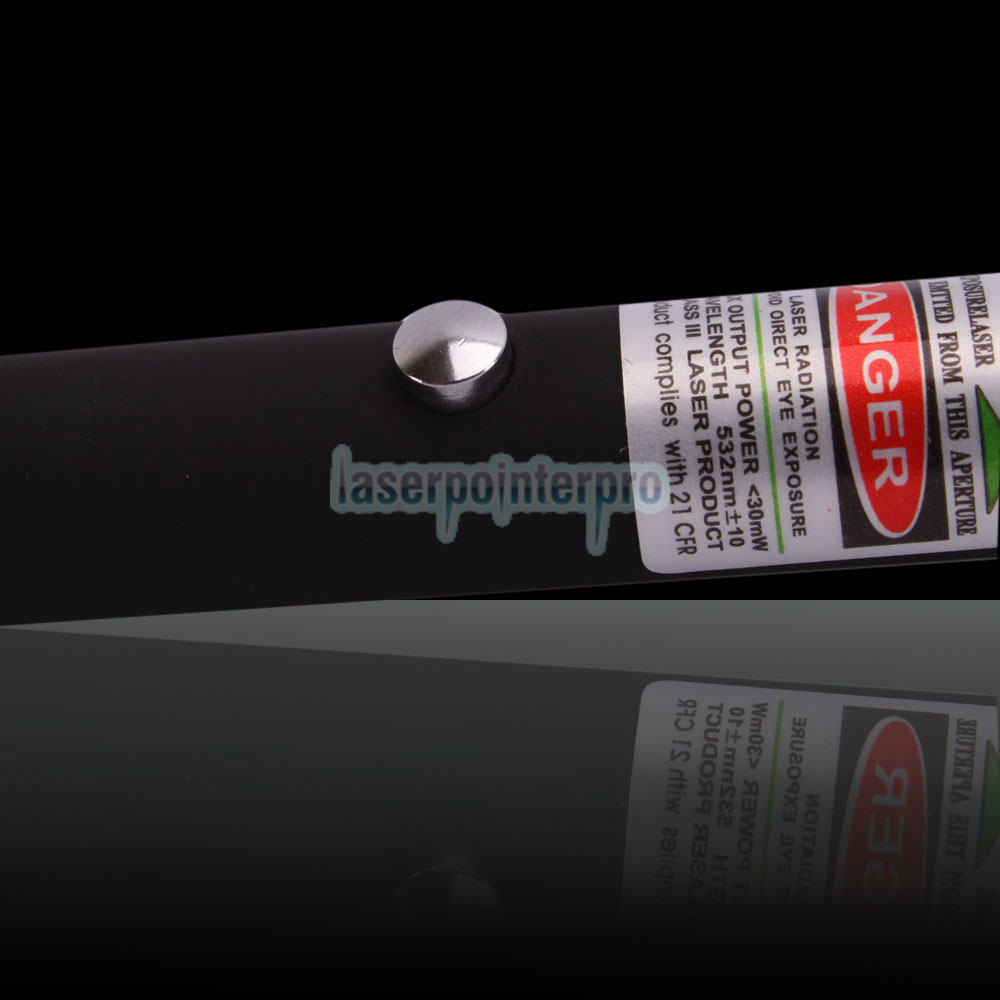 30mW 532nm Open-back Green Laser Pointer Pen