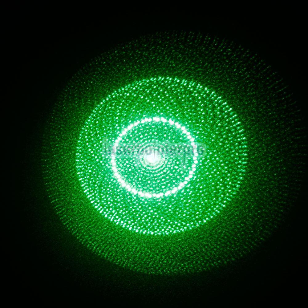 Penna puntatore laser verde caleidoscopico con apertura a mezz'aria da 5 in 1 30 mW 532 nm