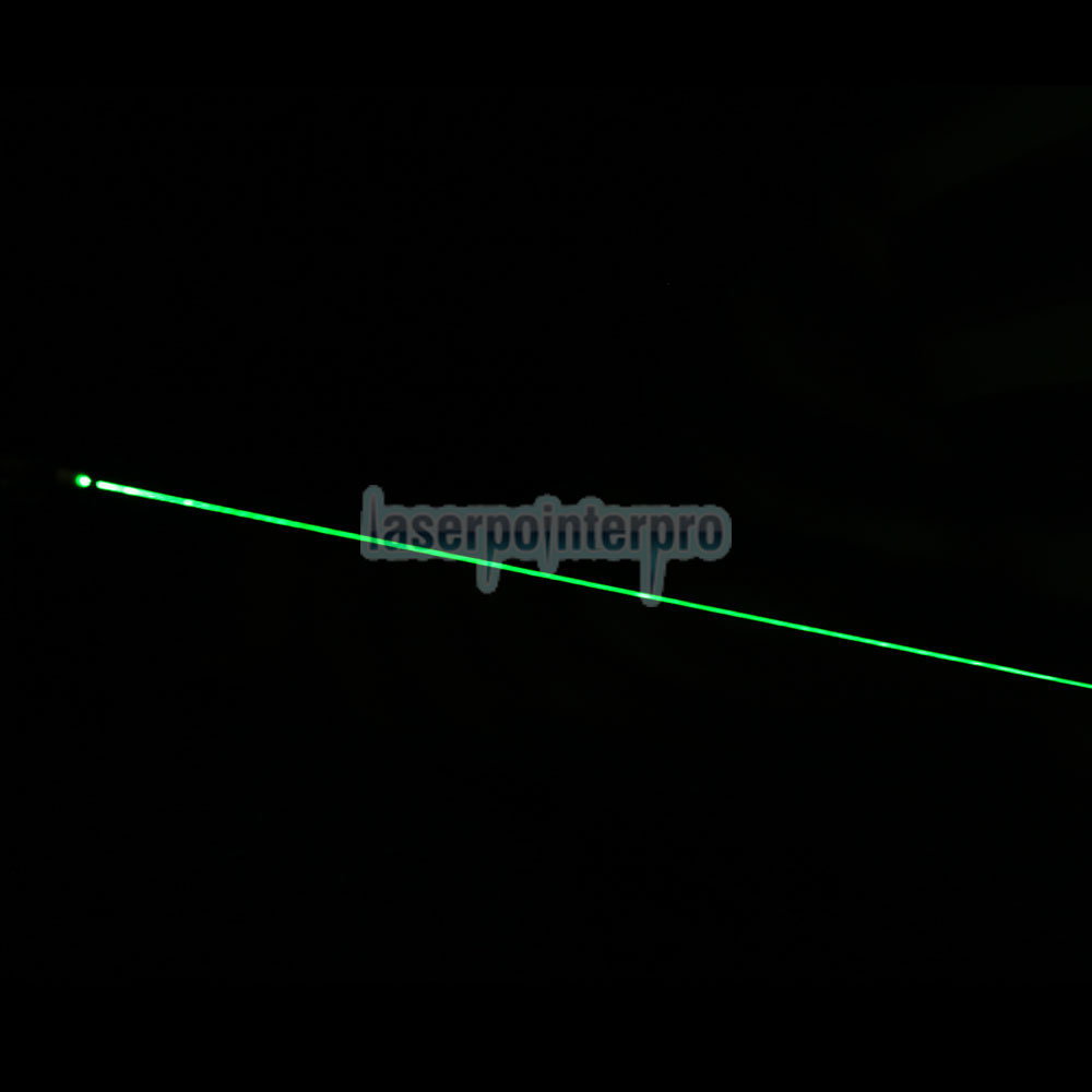 100mW 532nm Half Steel Mid-Open Green Laser Pointer Pen