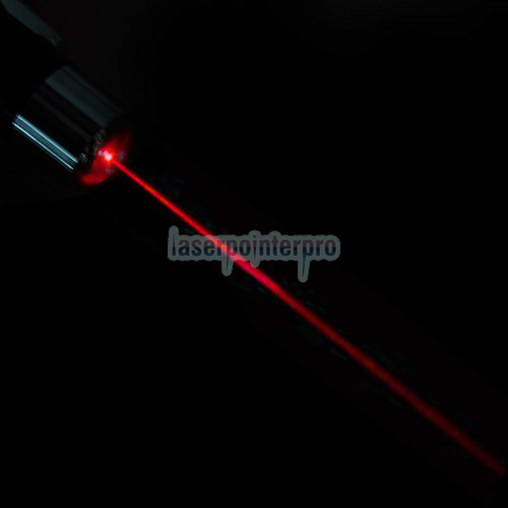 650nm 5mW Open-back Ultra Powerful Red Laser Pointer Pen Silver
