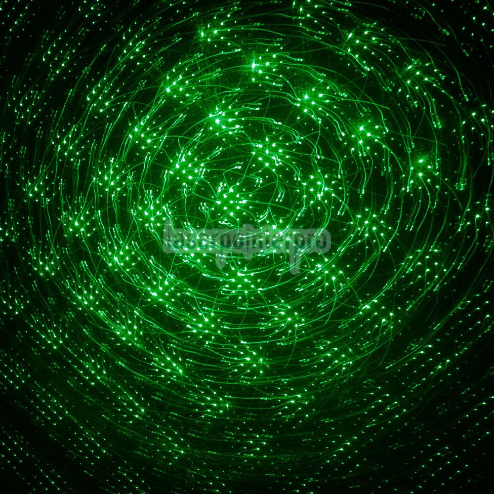 200mW 532nm Style de lampe de poche Pointeur Laser Vert Kaleidoscopique Réglable