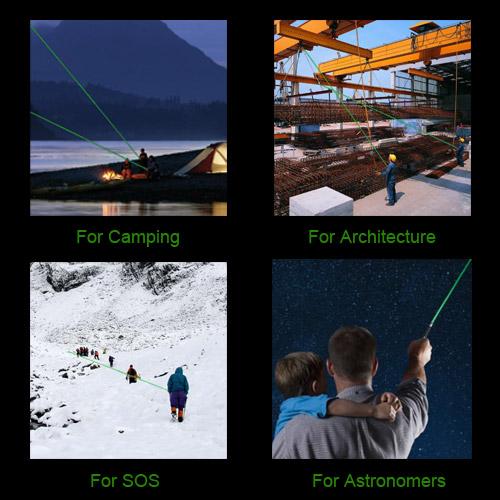 Puntatore laser verde caleidoscopico regolabile da 200 mW 532 nm