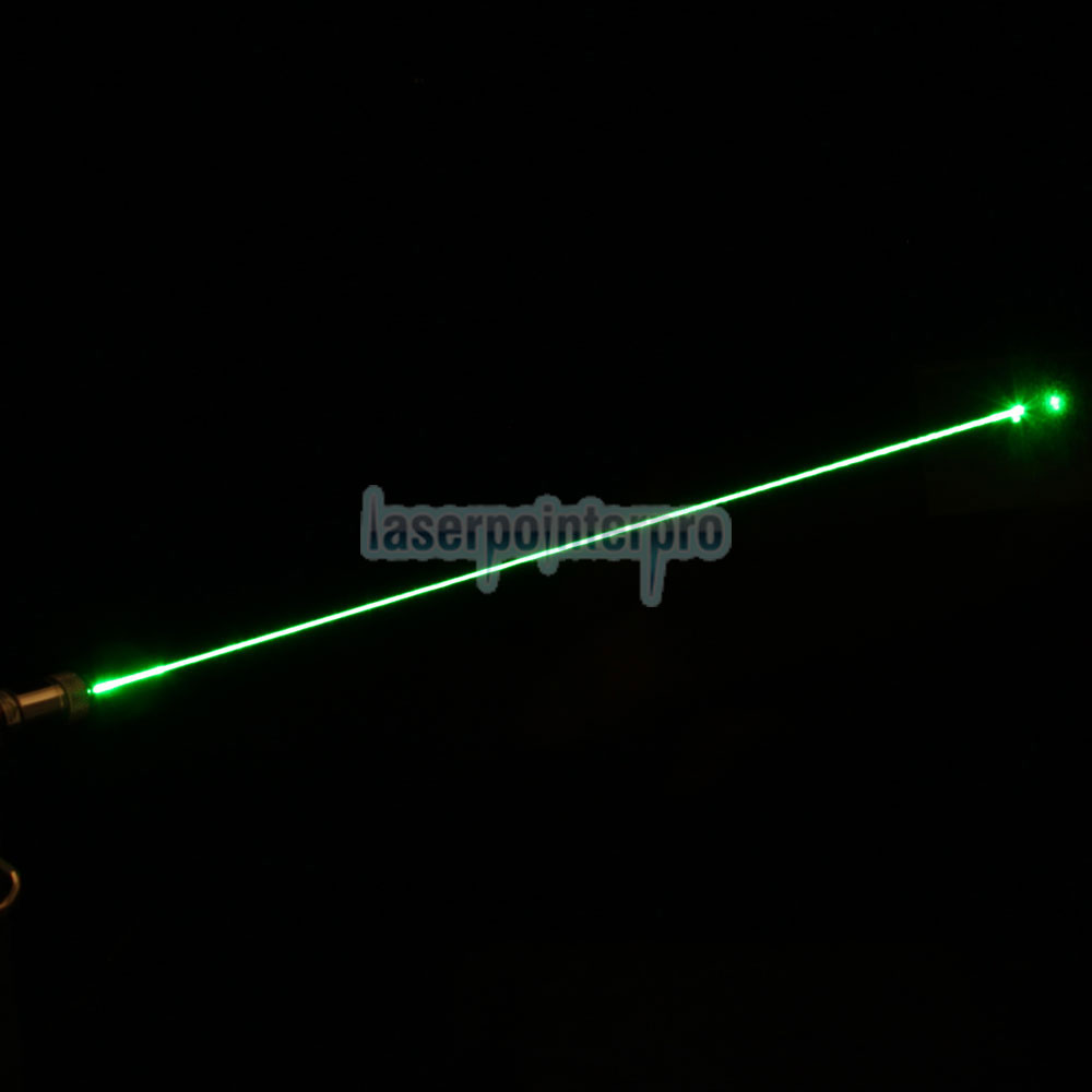 10mW 532nm Half-Steel Green Laser Pointer Pen com 2AAA Bateria
