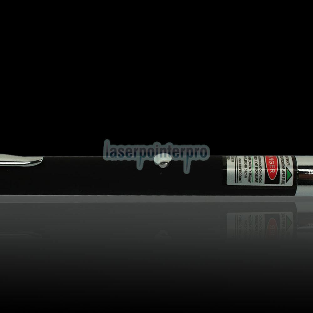 Pluma de puntero láser verde caleidoscópica de 150 mW 532 nm con batería 2AAA