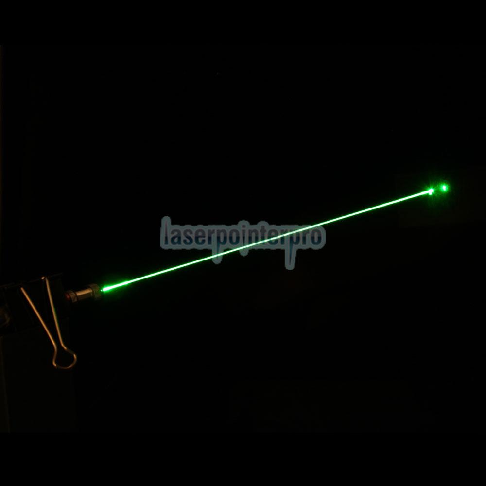 Pluma de puntero láser verde de media abertura 50mW 532 nm con batería 2AAA