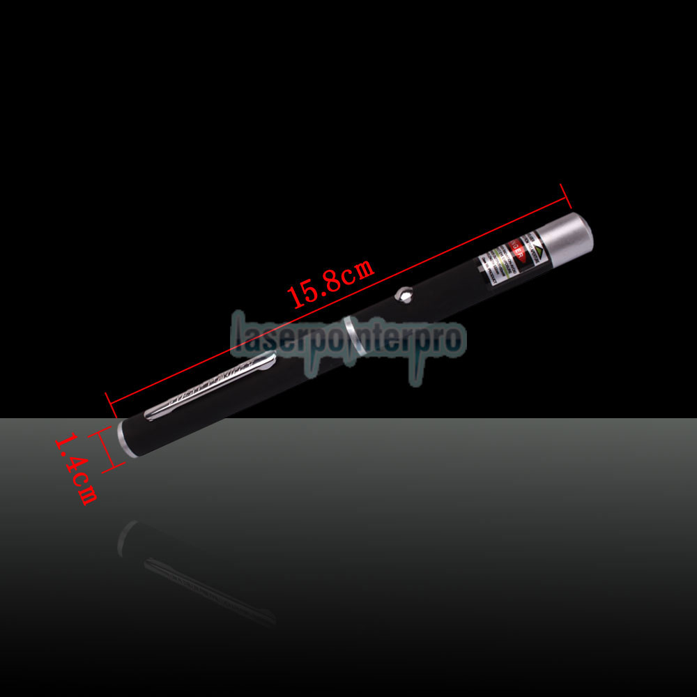 50mW 532nm Mid-open Green Laser Pointer Pen with 2AAA Battery