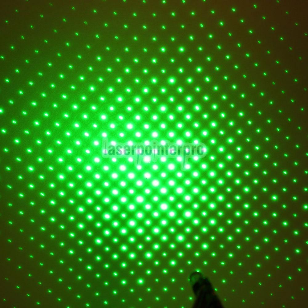 Stylo pointeur laser vert kaléidoscopique 120mW 532nm avec pile 2AAA
