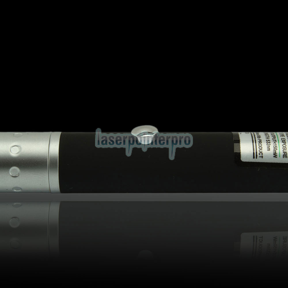 150mW 532nm Half-steel Green Laser Pointer Pen with 2AAA Battery