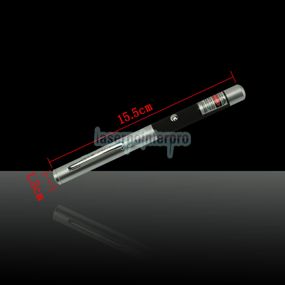 150mW 532nm Half-steel Green Laser Pointer Pen con batería 2AAA