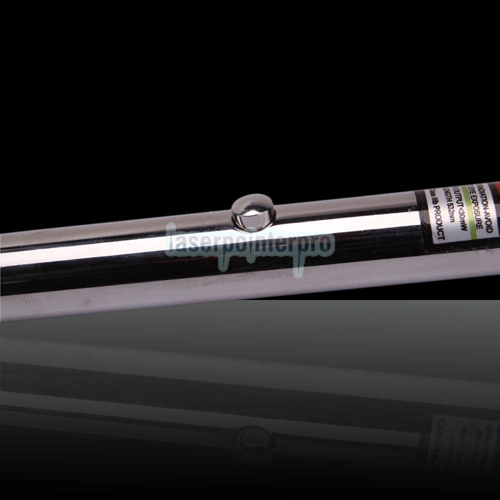 Penna puntatore laser verde da 30 mW 532 nm con batteria 2AAA