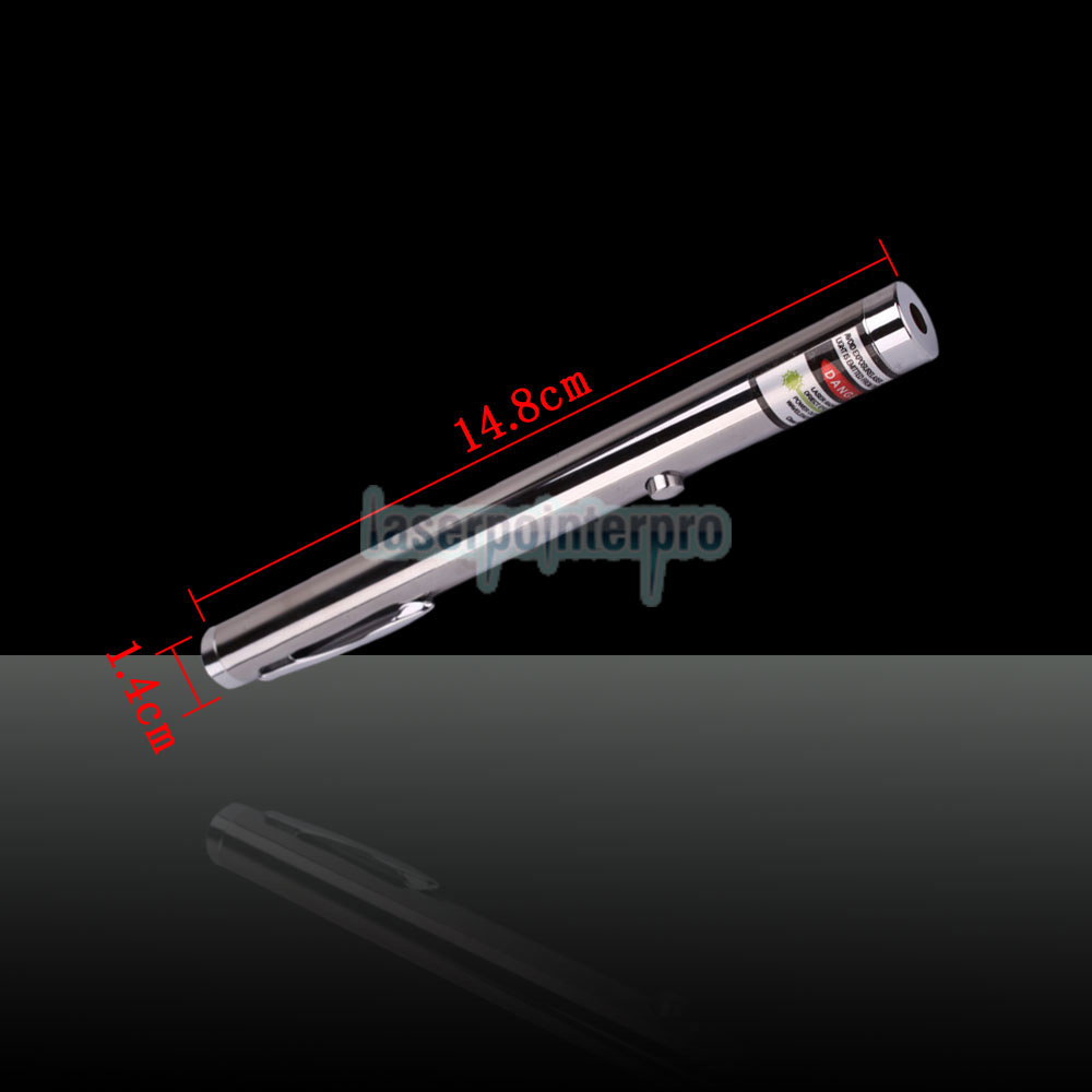 30mW 532nm Green Laser Pointer Pen with 2AAA Battery