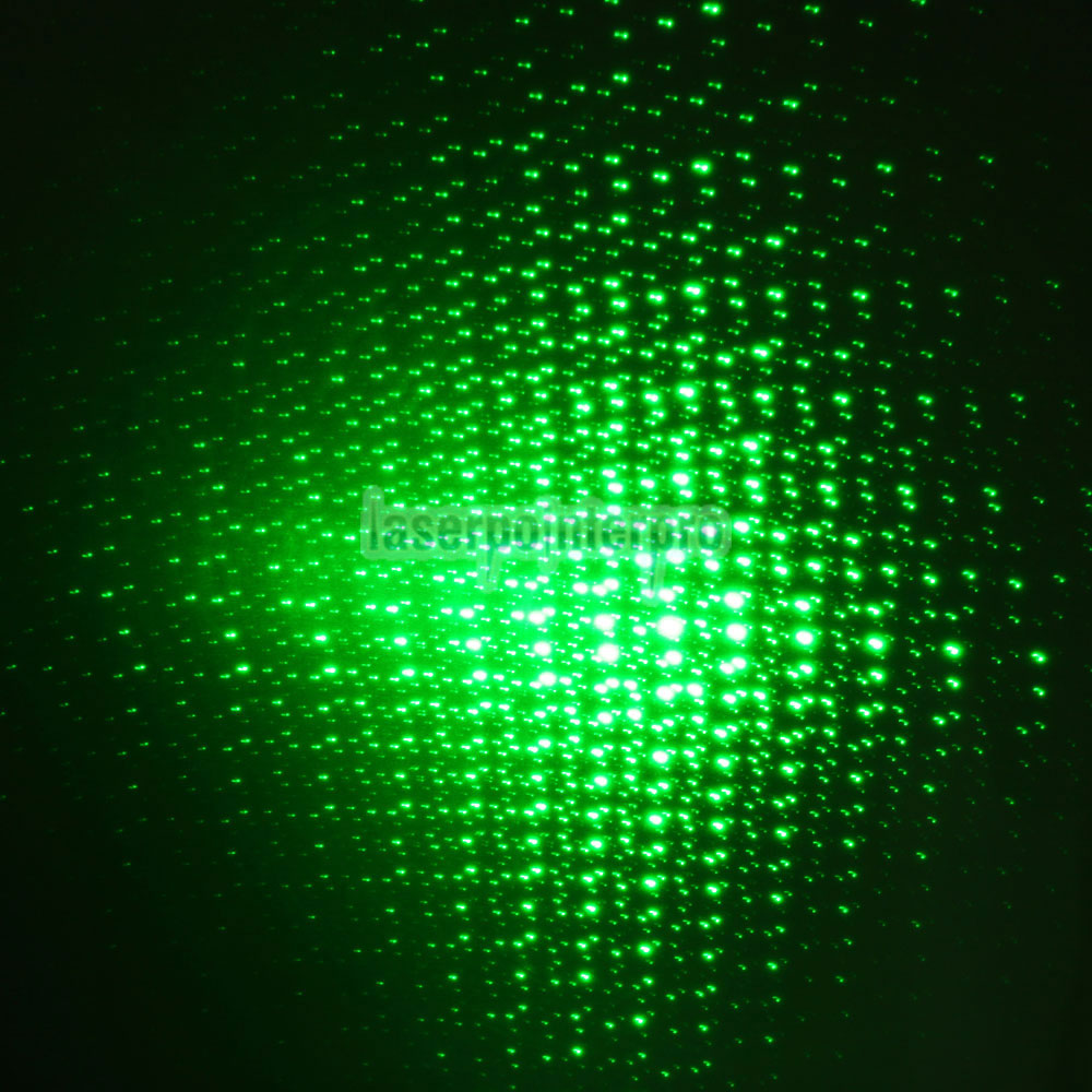 10mW 532nm Open-back Kaleidoscopic Caneta Laser Pointer Verde com bateria 2AAA