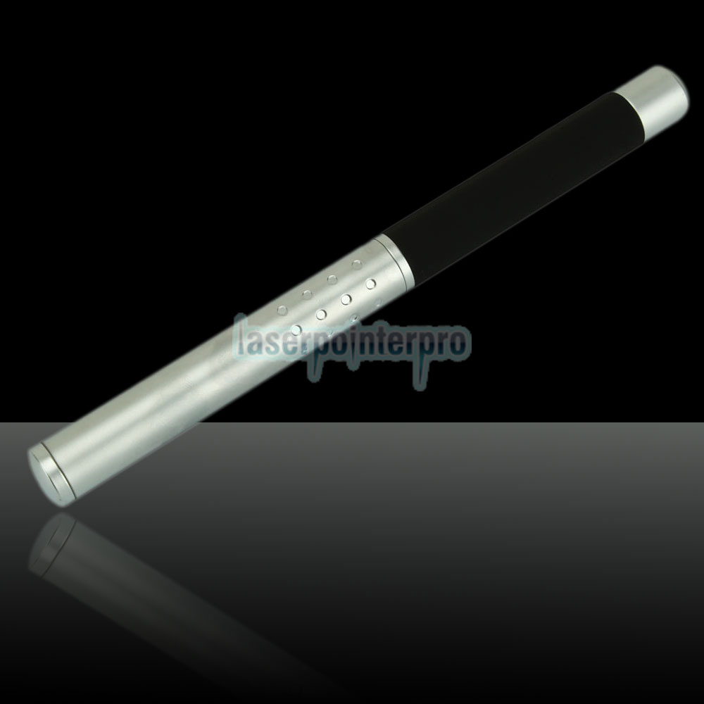 30mW 532nm Half-steel Green Laser Pointer Pen con batería 2AAA