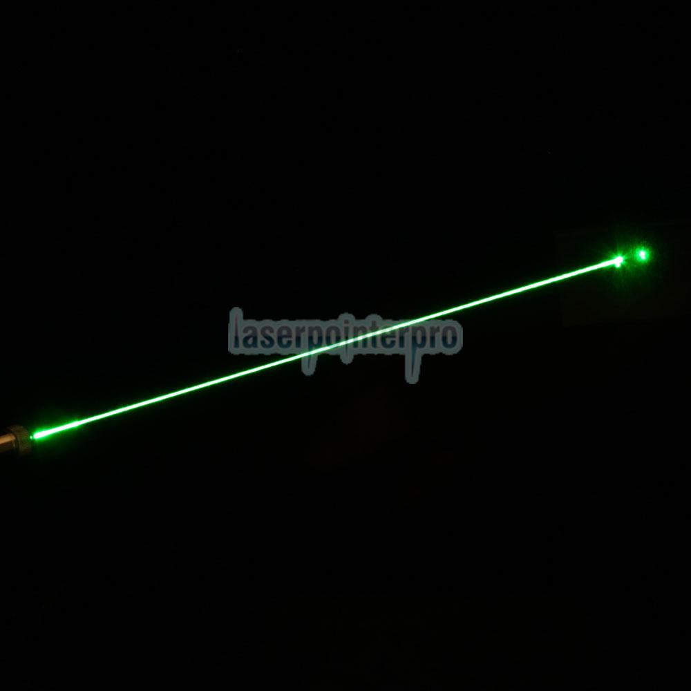 Penna puntatore laser verde mezzo acciaio 50mW 532nm con batteria 2AAA