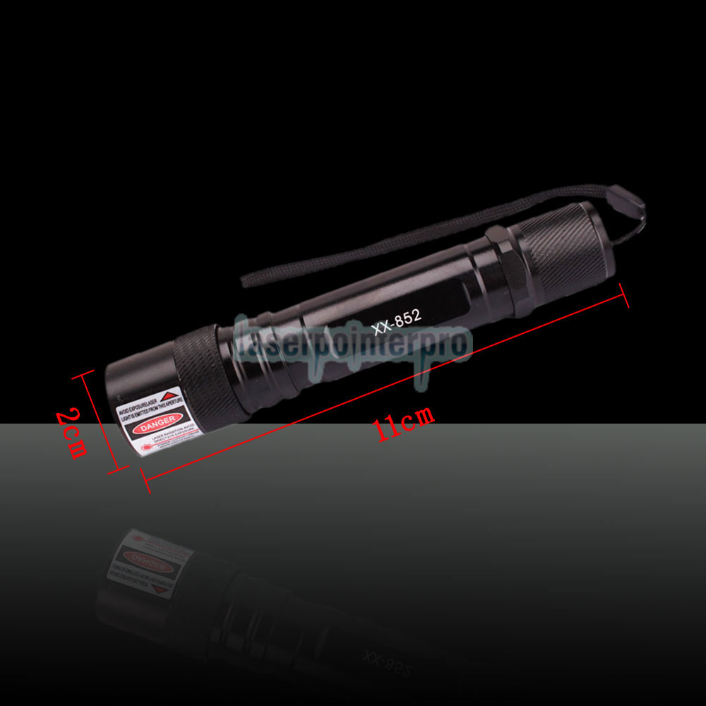 100mW 650nm Flashlight Style Red Laser Pointer Pen Black