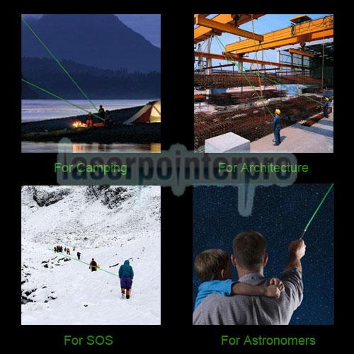 Stylo pointeur laser vert de style 1010 de type lampe de poche 200mW 532nm avec batterie 16340