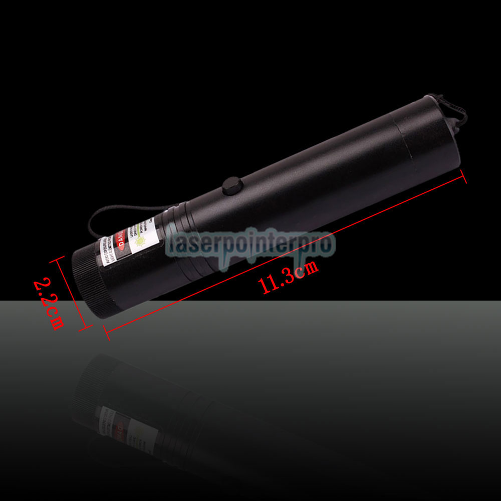 Laser 302 100mW 532nm Flashlight Style Green Laser Pointer Pen with 16340 Battery