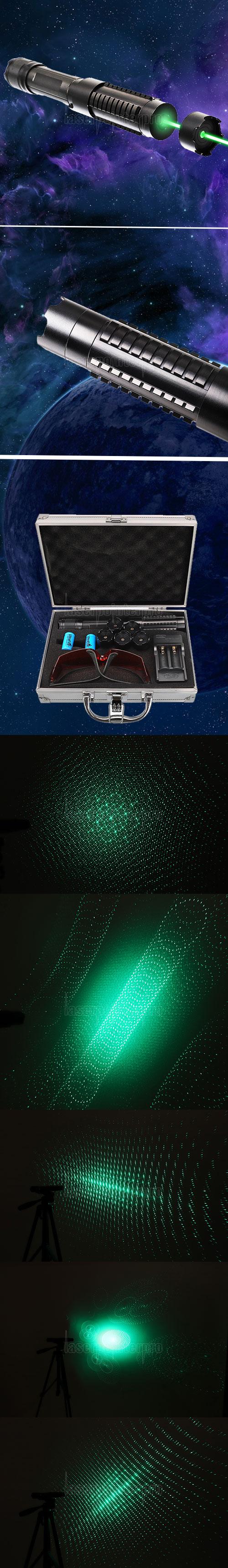 Kit puntatore laser verde bruciante ad alta potenza da 10000mw 520nm