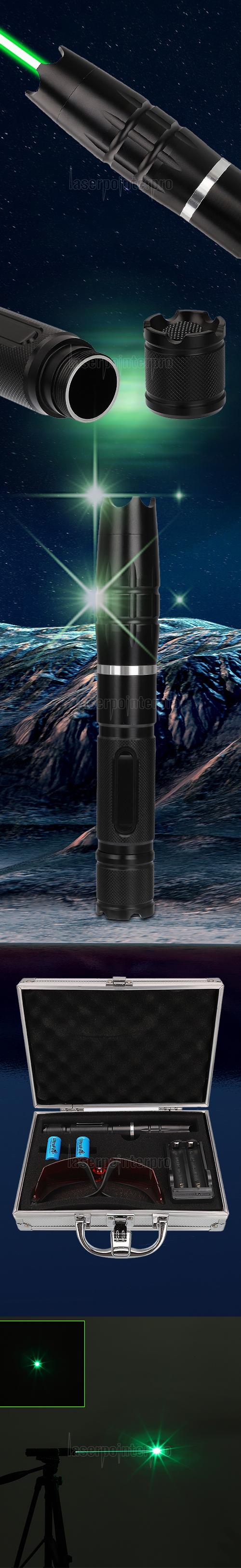 5000 MW 520 nm Brennende grüne Hochleistungs-Laserpointer-Kits GT-880