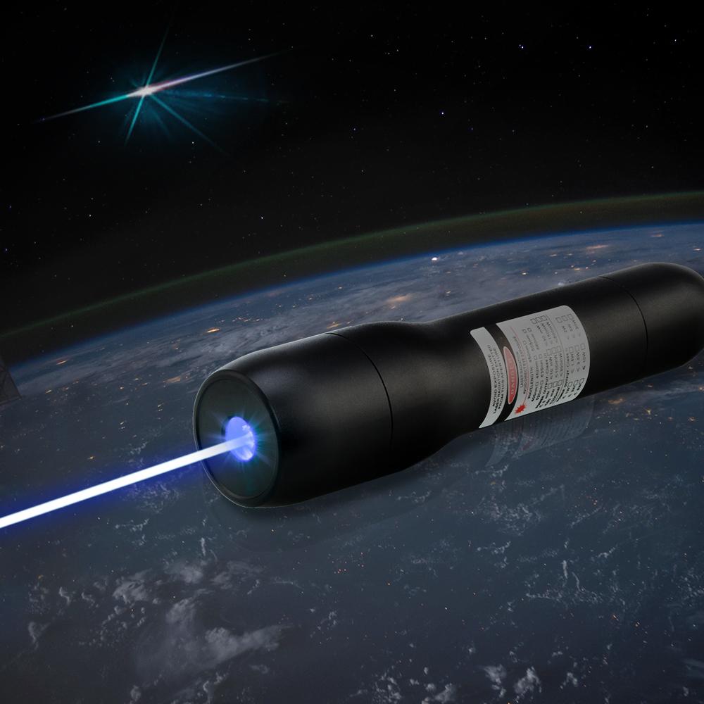 Puntatore laser blu impermeabile QK-DS6 10000mw 405nm 5 metri sott'acqua
