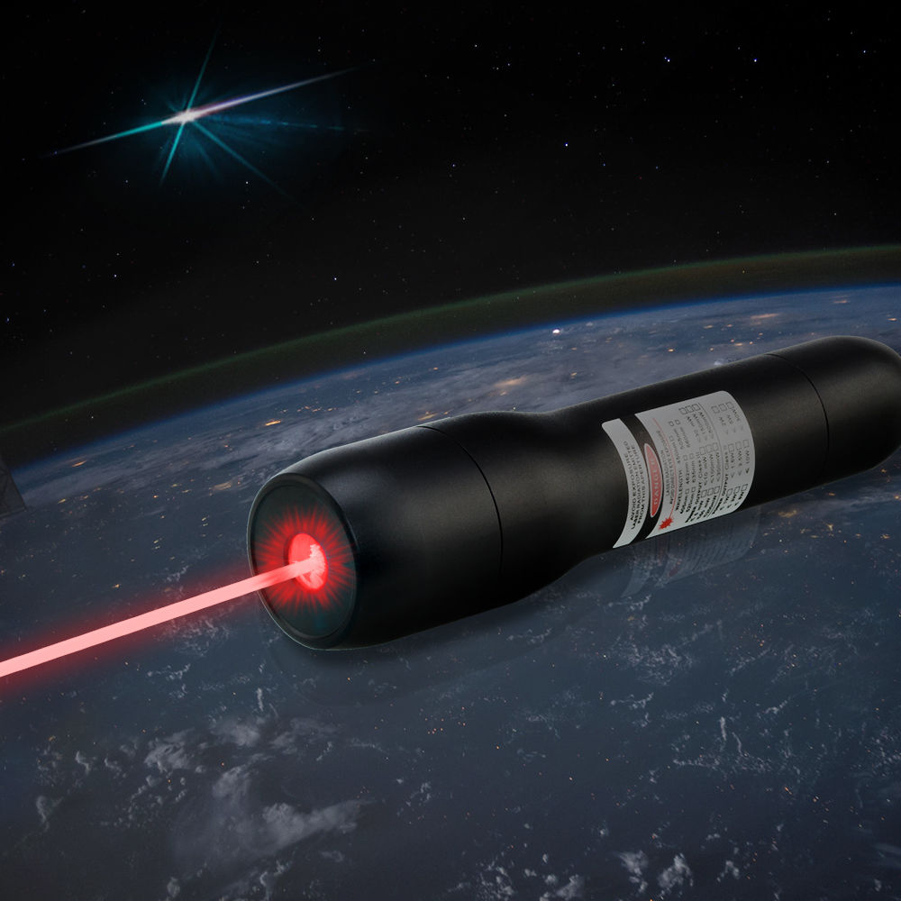 QK-DS6 1000mw 638nm Waterproof Red Laser Pointer 5 Meters Underwater