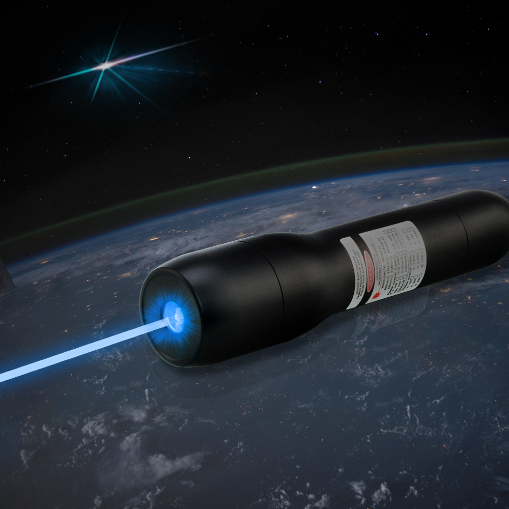 QK-DS6 10000mw 450nm Waterproof Blue Laser Pointer 5 metros debaixo d'água