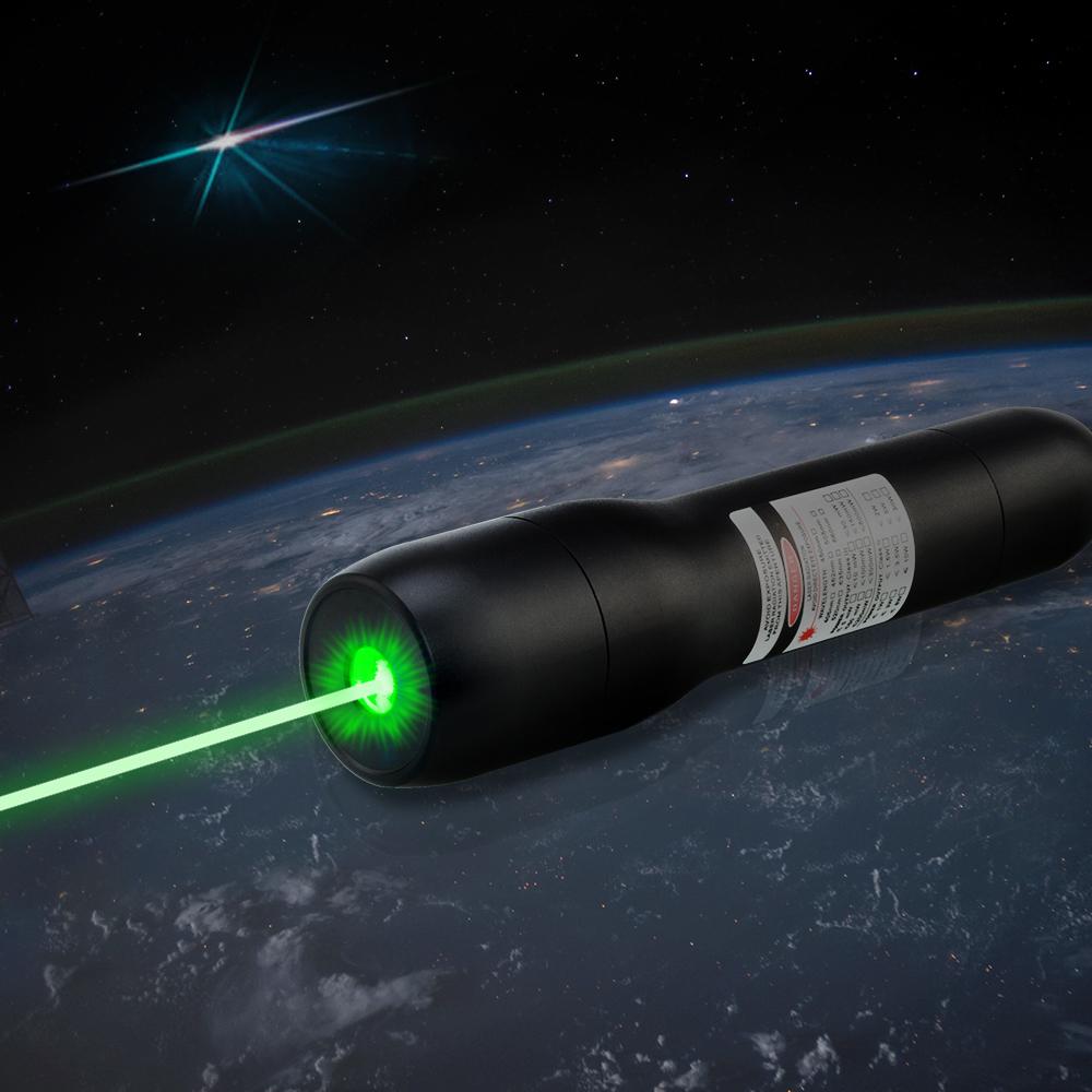 QK-DS6 5000mw 520nm impermeável ponteiro laser verde 5 metros debaixo d'água